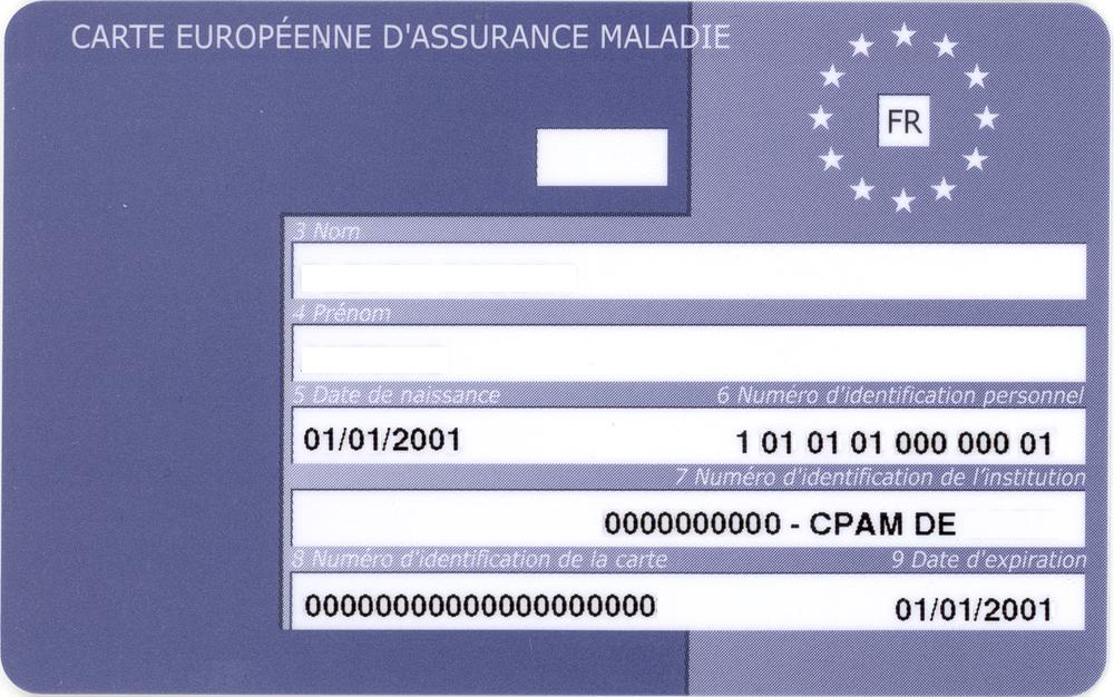 ameli carte européenne d assurance maladie The European Health Insurance Card